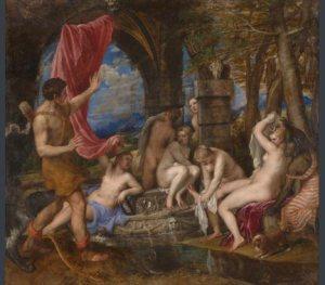 Diana y Acteón, Tiziano