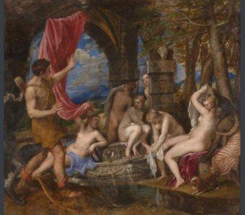 Diana y Acteón Tiziano