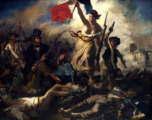Delacroix_Libertad guiando al pueblo