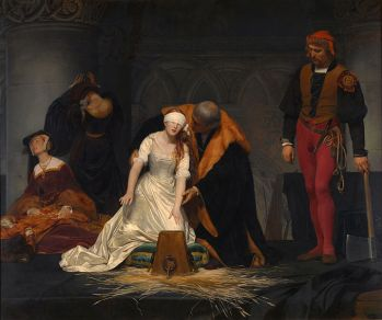 Ejecución de Lady Jane Grey, Paul Delaroche 1834, National Gallery de Londres
