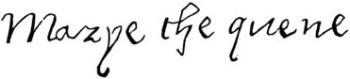 Firma de la Reina María Tudor