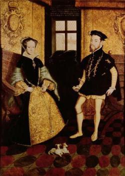 María I de Inglaterra y Felipe II de España