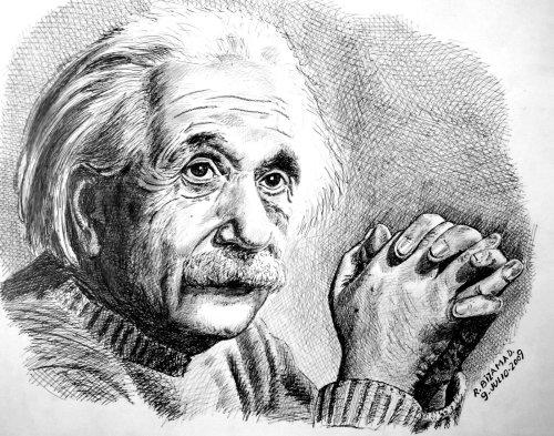 Grabado Albert Einstein