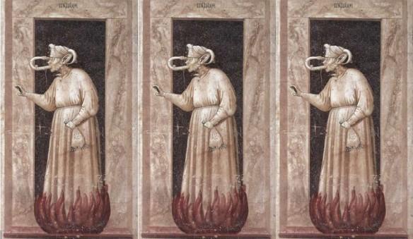 Invidia, fresco de Giotto, Padua